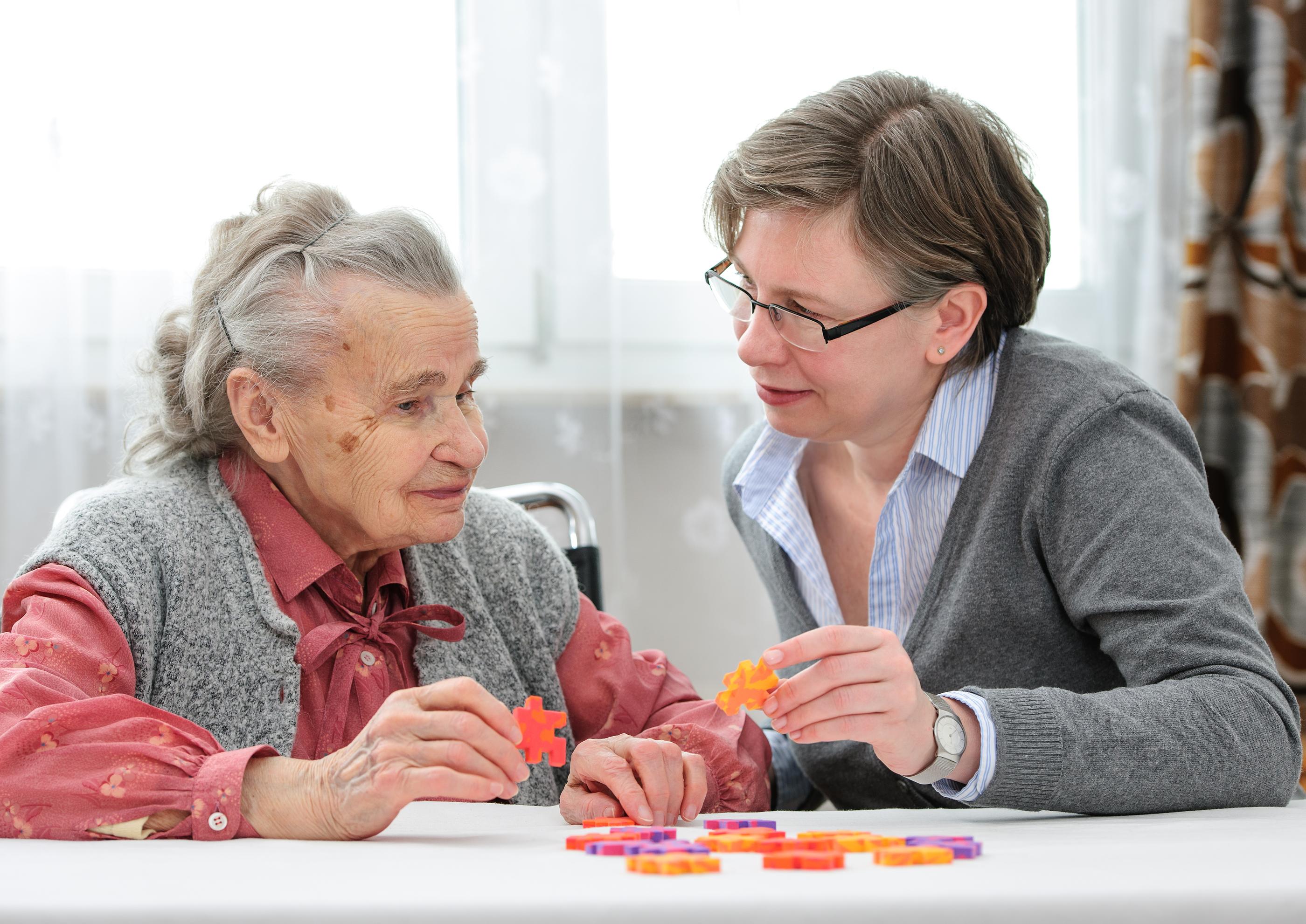 bigstock-Senior-Woman-With-Her-Elder-Ca-69141397
